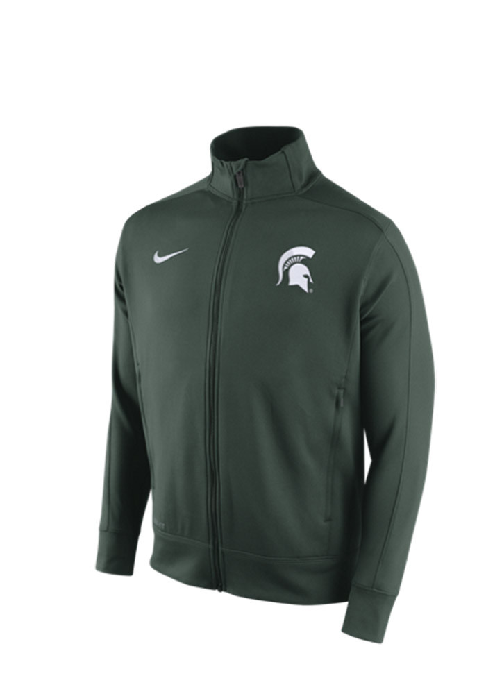 Nike Michigan State Spartans Mens Green Stadium Classic Track Jacket - Image 1