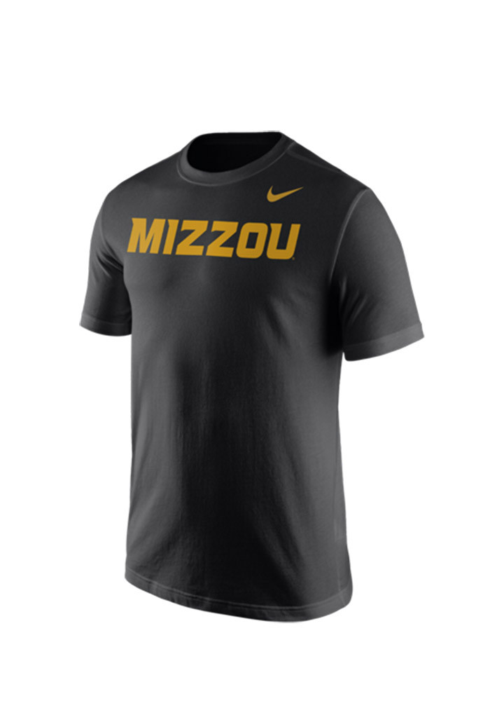 Nike Missouri Tigers Mens Black Wordmark Tee Short Sleeve T Shirt - Image 1
