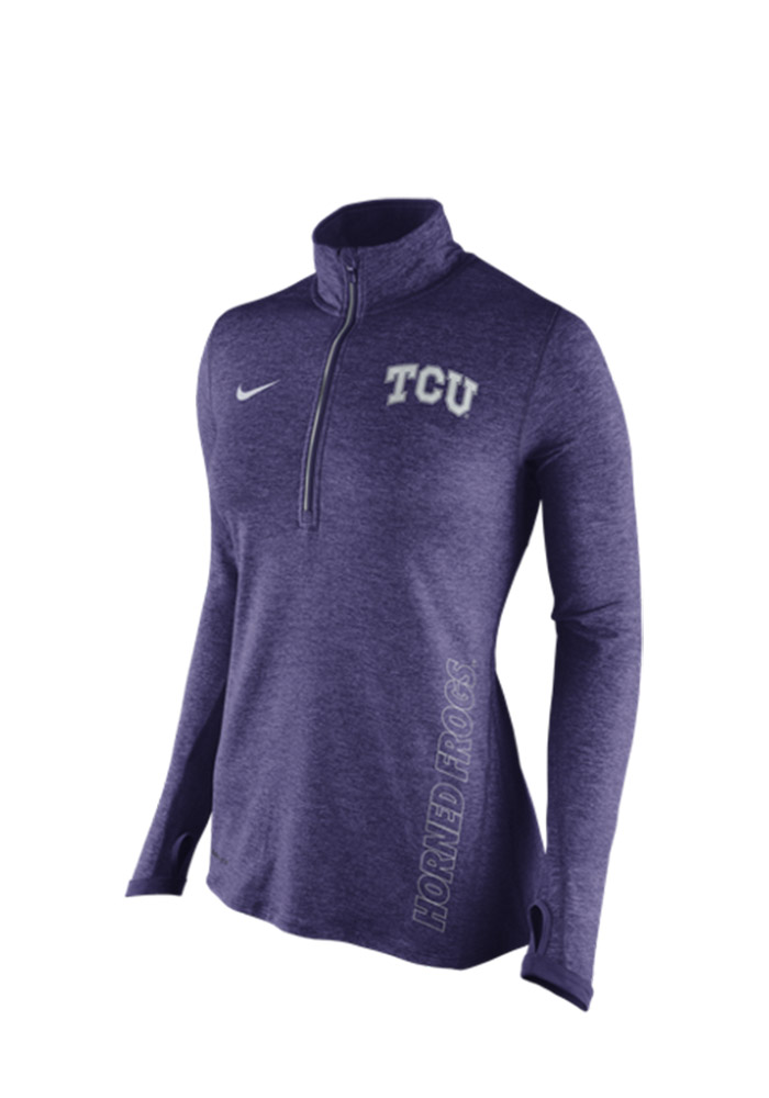Nike Horned Frogs Womens Stadium Element Purple 14 Zip Performance Pullover 12514720