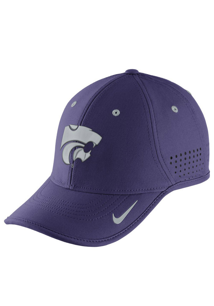 Nike K-State Wildcats Mens Purple Dri-Fit Coaches Adjustable Hat - Image 1