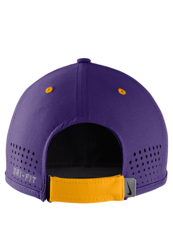 Nike LSU Tigers Mens Purple Dri-Fit Coaches Adjustable Hat - Image 2