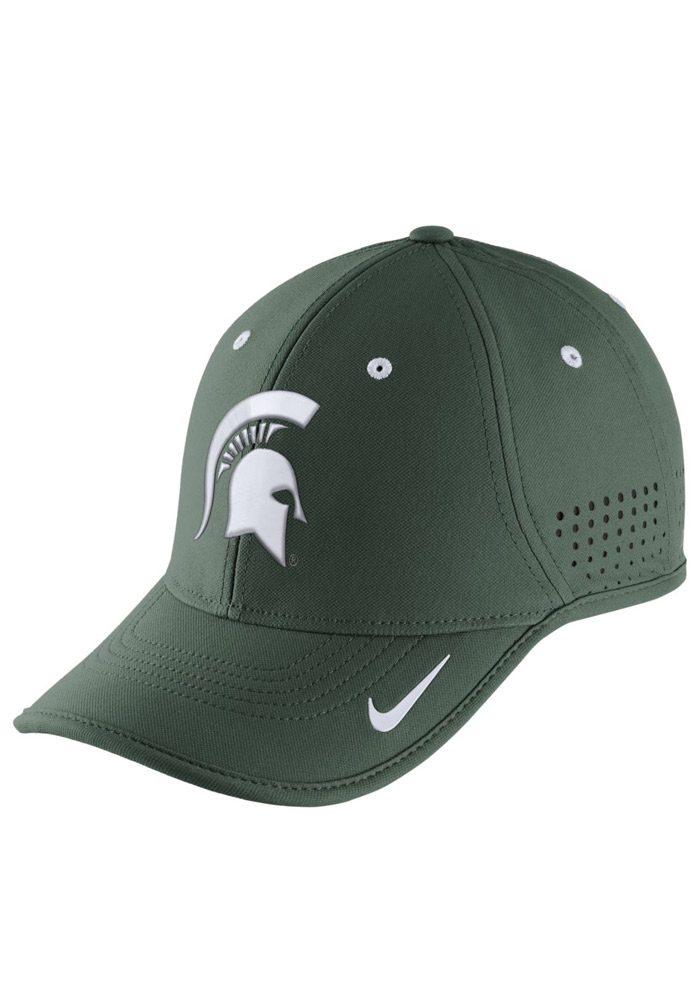 Nike Michigan State Spartans Mens Green Dri-Fit Coaches Adjustable Hat - Image 1