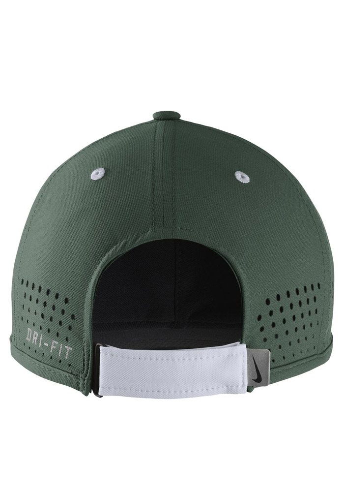 Nike Michigan State Spartans Mens Green Dri-Fit Coaches Adjustable Hat - Image 2