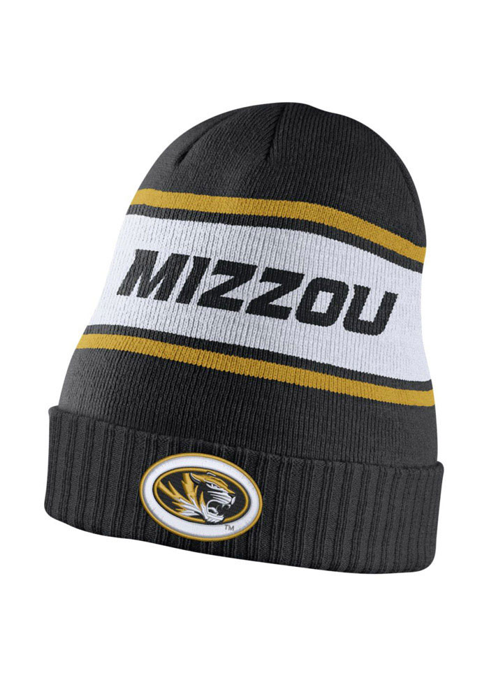 Nike Missouri Tigers Black DF Sideline Mens Knit Hat - Image 1