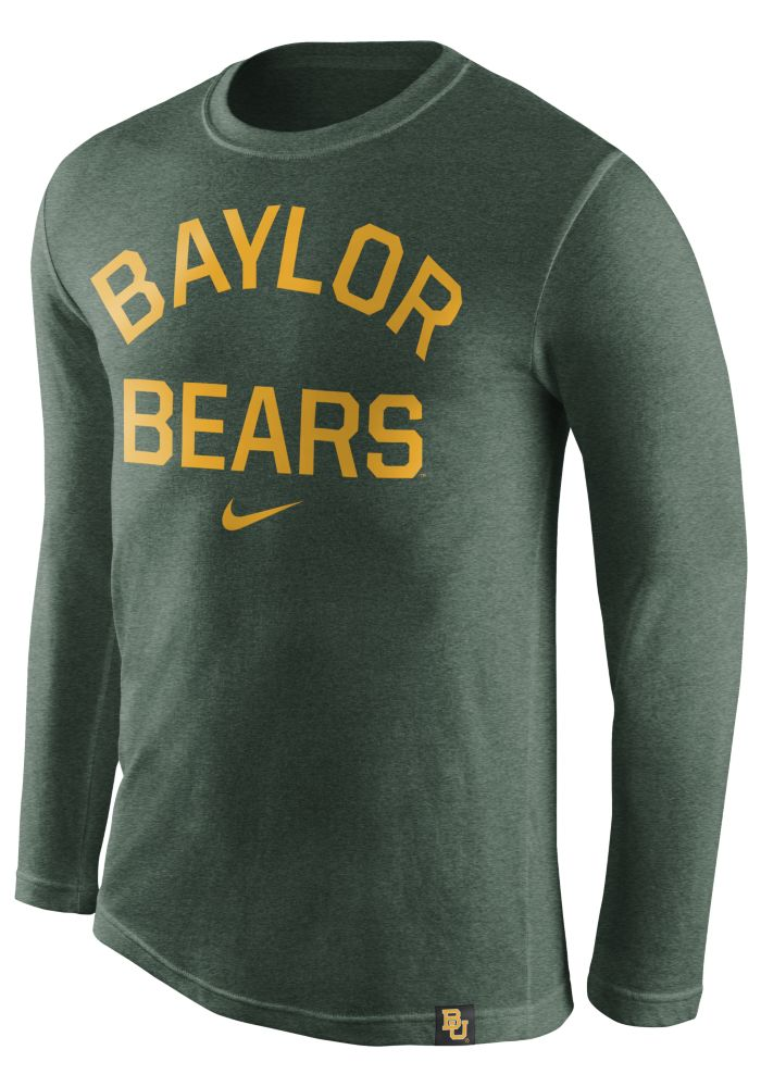 ef35a3aff478 Nike Baylor Bears Green Tri Conviction Fashion Tee
