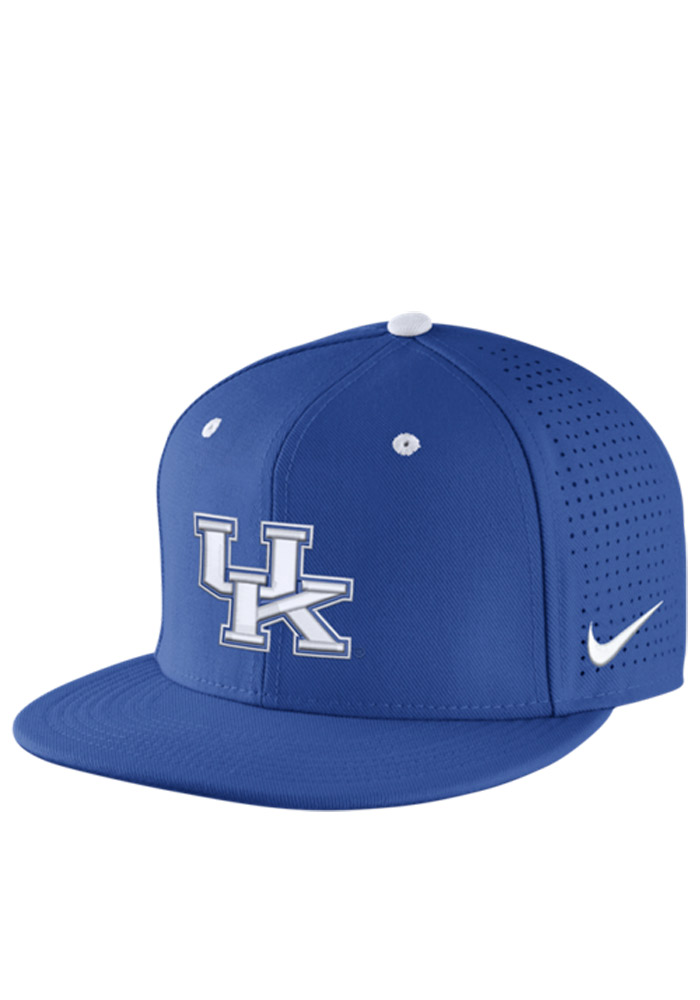 big sale ec40b d4f29 ... new style nike kentucky wildcats mens blue authentic baseball fitted hat  image 1 cf598 08306