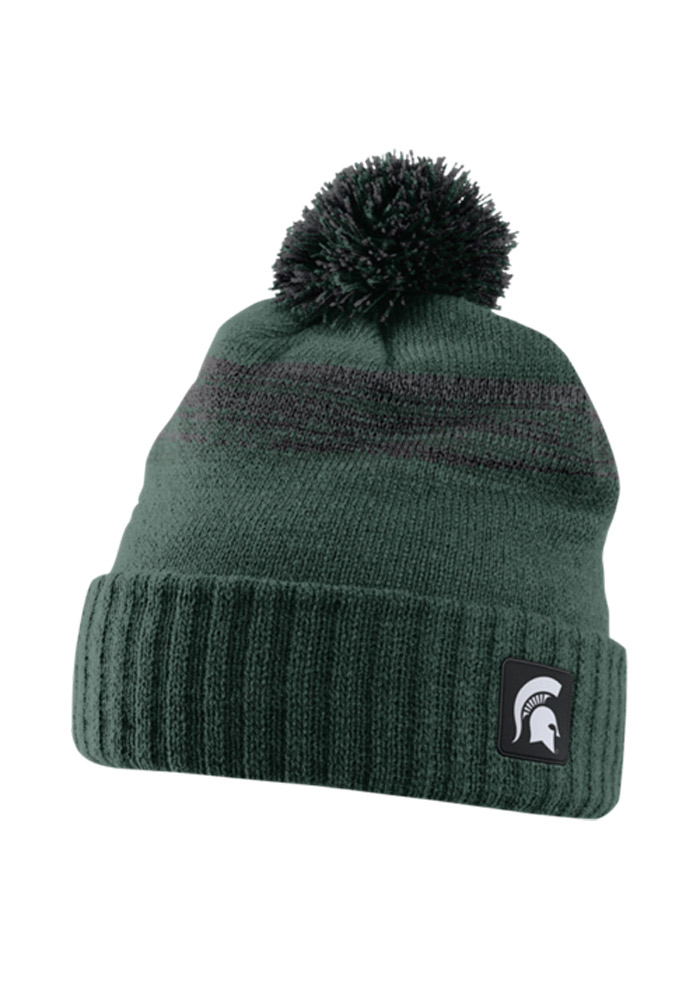 4844d38ee66 Nike Michigan State Spartans Green Texture Mens Knit Hat - 12515330