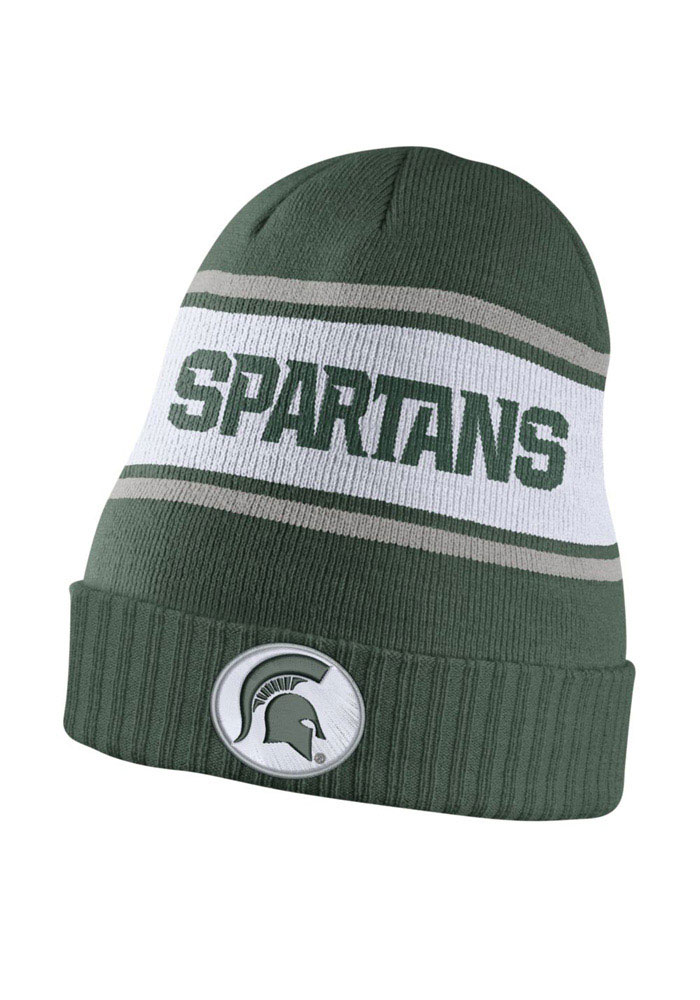 Nike Michigan State Spartans Green DF Sideline Mens Knit Hat - Image 1