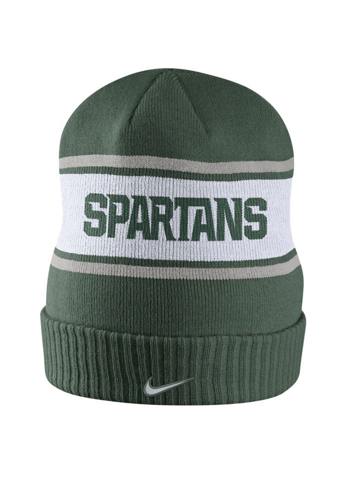 Nike Michigan State Spartans Green DF Sideline Mens Knit Hat - Image 2