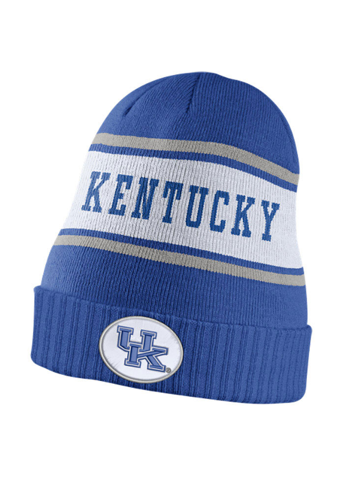 Nike Kentucky Wildcats Blue DF Sideline Mens Knit Hat - Image 1