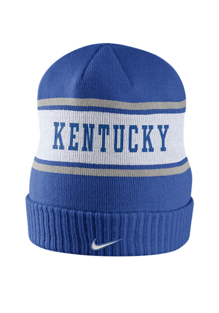 Nike Kentucky Wildcats Blue DF Sideline Mens Knit Hat - Image 2
