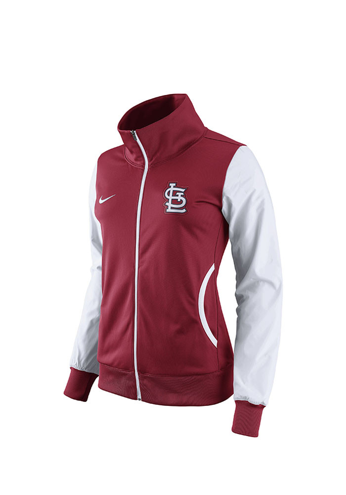 Nike St Louis Cardinals Womens Red Classic Track Long Sleeve Track Jacket - Image 1