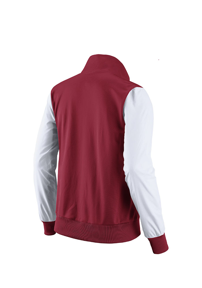 Nike St Louis Cardinals Womens Red Classic Track Long Sleeve Track Jacket - Image 2
