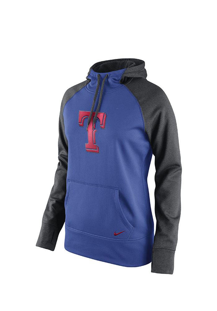 Nike Texas Rangers Womens Blue All Time Hooded Sweatshirt - Image 1
