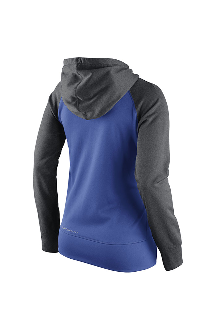 Nike Texas Rangers Womens Blue All Time Hooded Sweatshirt - Image 2