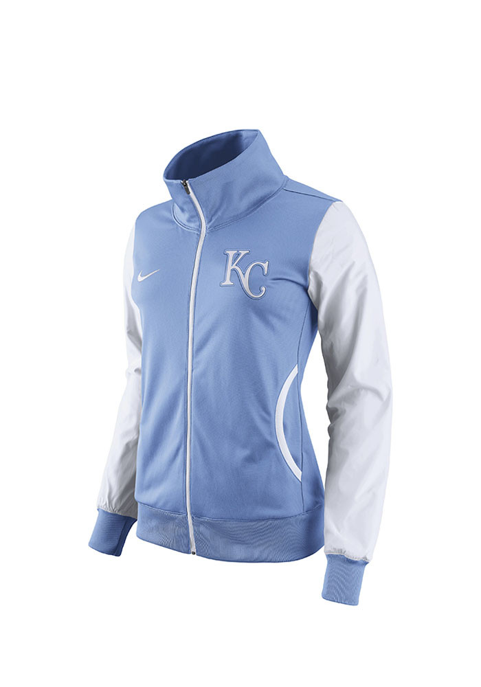 Nike Kansas City Royals Womens Light Blue Classic Track Long Sleeve Track Jacket - Image 1