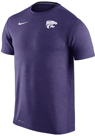 Nike K-State Wildcats Mens Purple Dri Fit Touch Tee