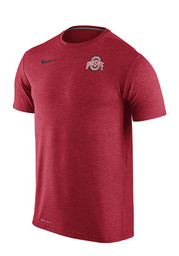 Nike The Ohio State University Mens Red Dri Fit Touch Performance Tee