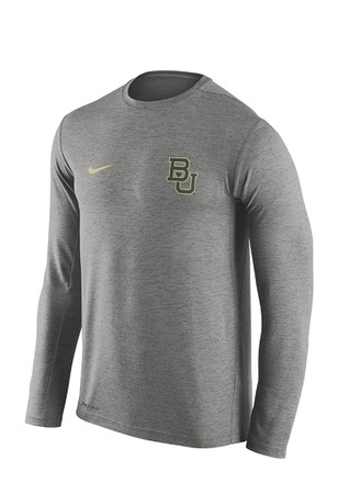 Nike Baylor Bears Mens Grey Dri Fit Touch Tee