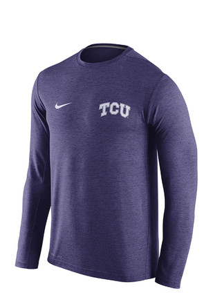 Nike Horned Frogs Mens Purple Dri Fit Touch Performance Tee