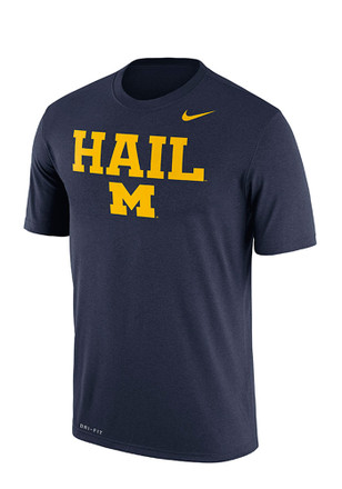 Nike Michigan Wolverines Mens Navy Blue Authentic Local Tee