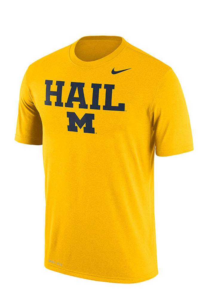 Nike Michigan Wolverines Gold Authentic Local Short Sleeve T Shirt - Image 1