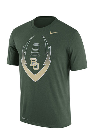 Nike Baylor Mens Green Icon Performance Tee