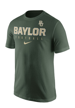Nike Baylor Mens Green Practice Tee