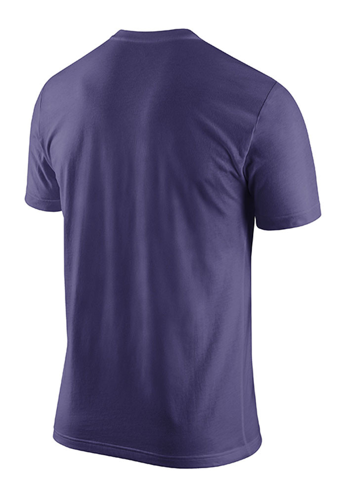 Nike K-State Wildcats Mens Purple Practice Short Sleeve T Shirt - Image 2