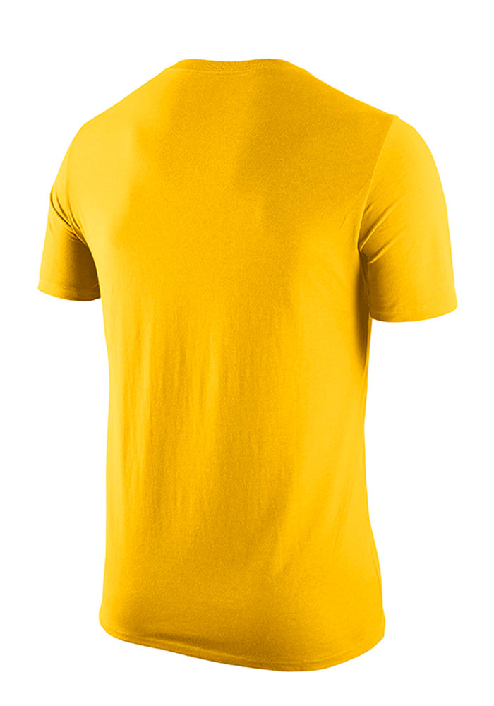 Nike Michigan Wolverines Mens Gold Logo Short Sleeve T Shirt - Image 2