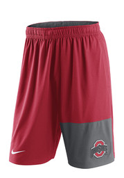 Nike The Ohio State University Mens Red Fly 4.0 Shorts