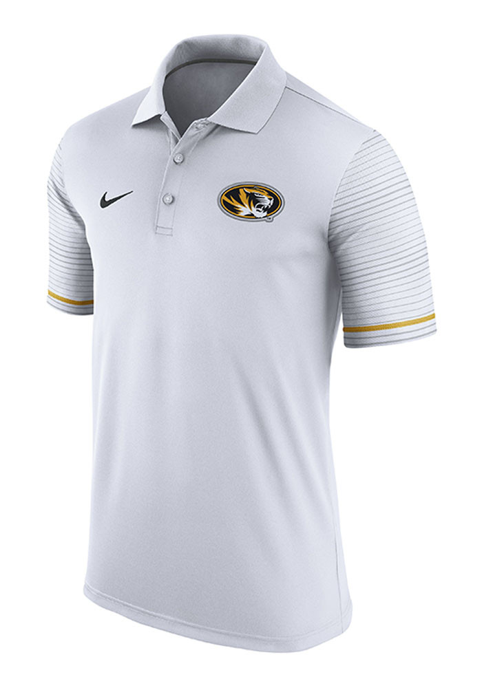 Nike Missouri Tigers Mens White Early Season Coach Short Sleeve Polo - Image 1