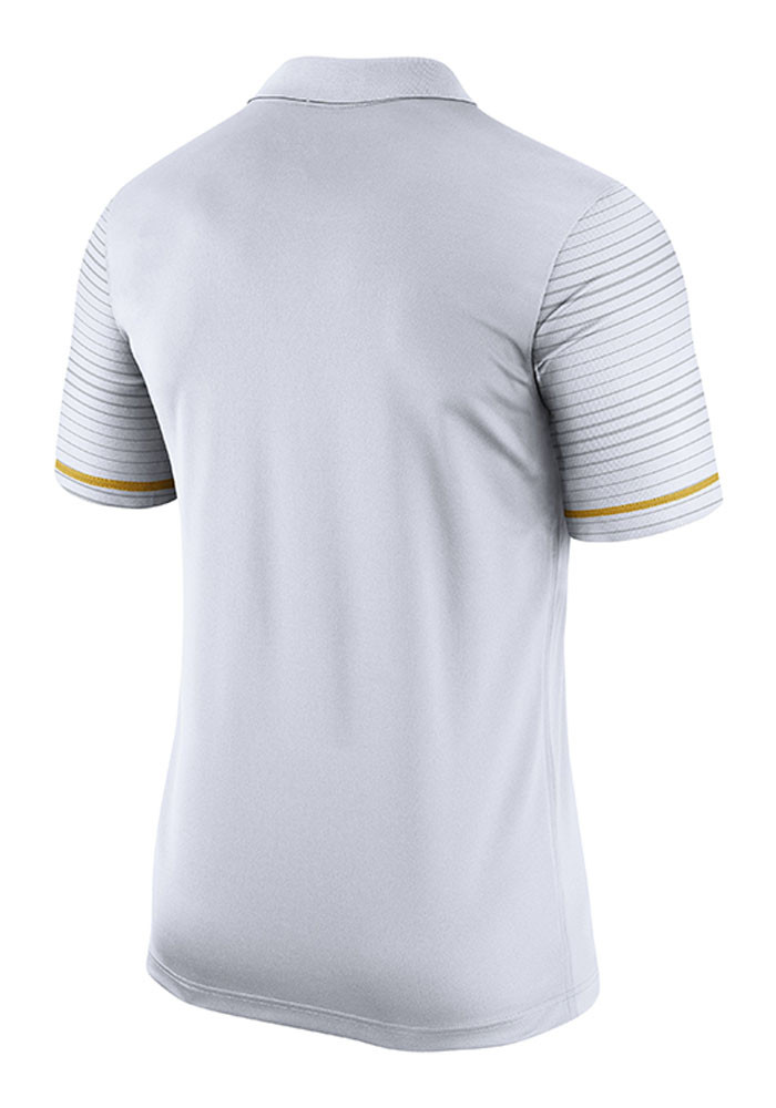 Nike Missouri Tigers Mens White Early Season Coach Short Sleeve Polo - Image 2