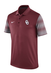 Nike Oklahoma Mens Red Early Season Coach Short Sleeve Polo Shirt