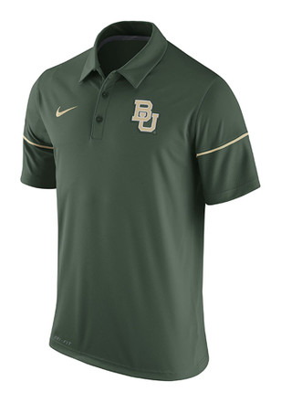 Nike Baylor Mens Green Team Issue Short Sleeve Polo Shirt