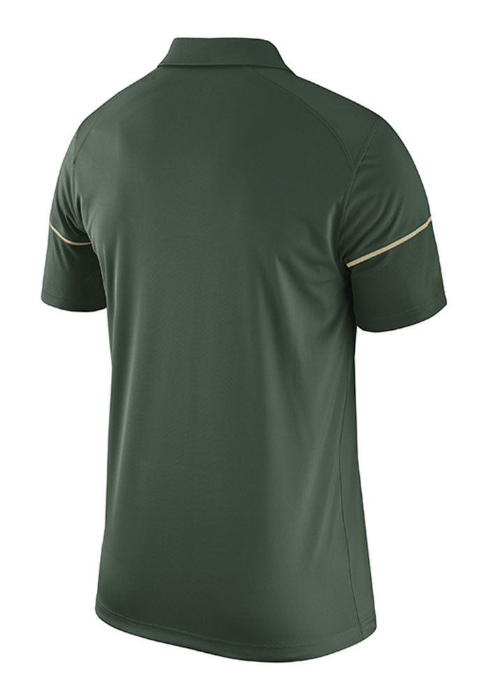 Nike Baylor Bears Mens Green Team Issue Short Sleeve Polo - Image 2