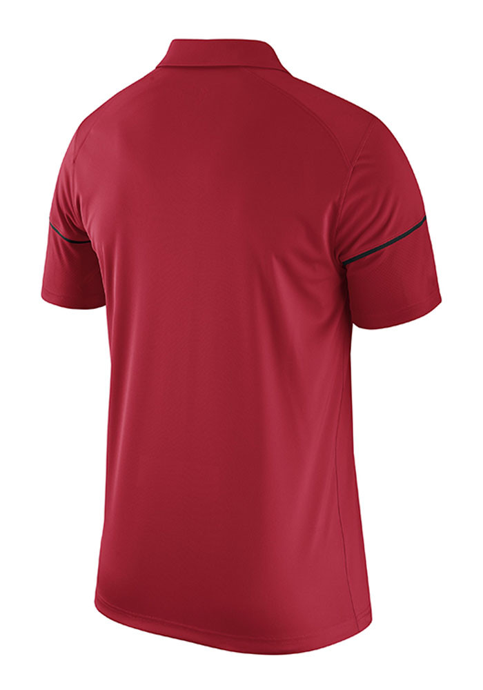Nike Ohio State Buckeyes Mens Red Team Issue Short Sleeve Polo - Image 2