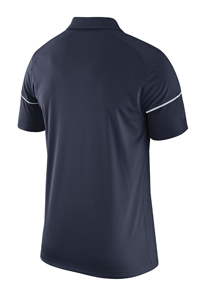 Nike Penn State Nittany Lions Mens Navy Blue Team Issue Short Sleeve Polo - Image 2