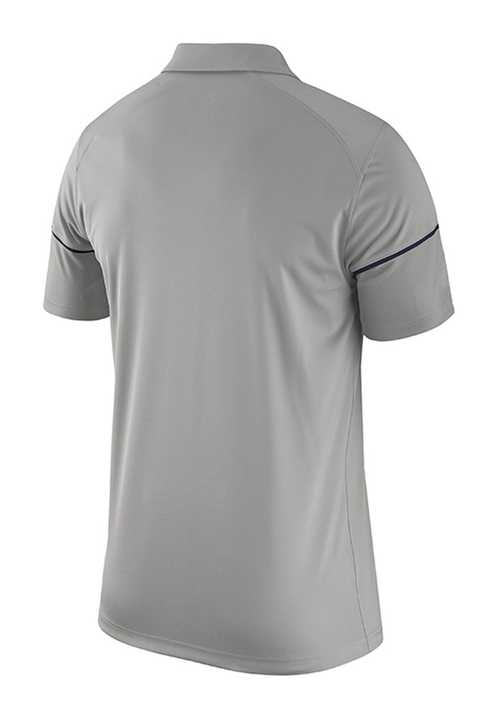 Nike Penn State Nittany Lions Mens Grey Team Issue Short Sleeve Polo - Image 2