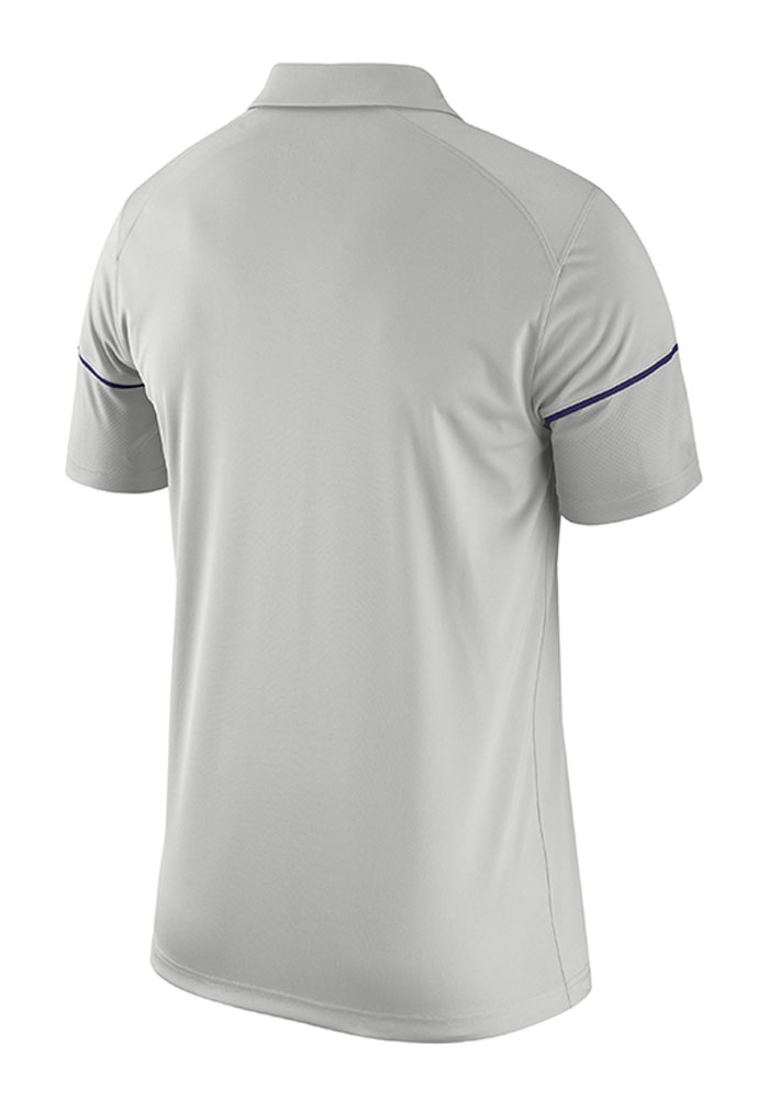 Nike TCU Horned Frogs Mens Grey Team Issue Short Sleeve Polo - Image 2