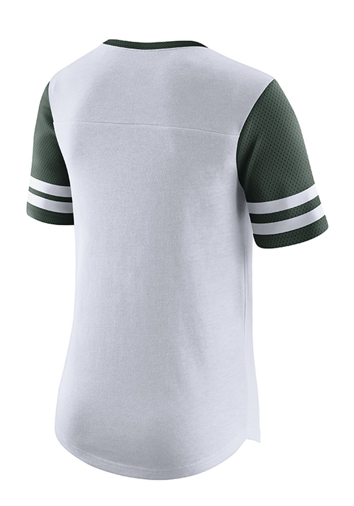 Nike Michigan State Spartans Womens White Gear Up Modern Short Sleeve Crew T-Shirt - Image 2