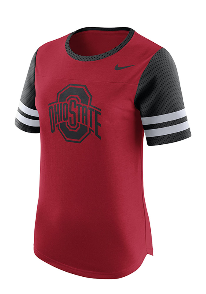 Nike Ohio State Buckeyes Womens Gear Up Modern Red T-Shirt 12515942
