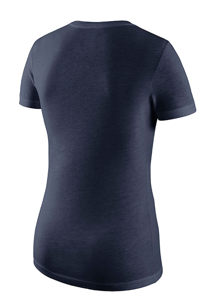 Nike michigan wolverines womens navy blue local v neck t for Navy blue and white nike shirt
