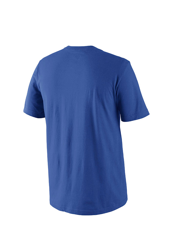 Nike Chicago Cubs Mens Blue MLB SS Practice Tee 1.5 Short Sleeve T Shirt - Image 2