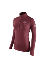 Nike Cyclones Womens Tailgate Element Red 1/4 Zip Performance Pullover