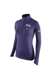Nike Horned Frogs Womens Tailgate Element Purple 1/4 Zip Performance Pullover