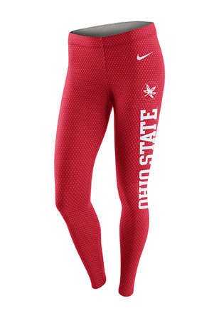 Nike Ohio State Buckeyes Womens Red Tailgate Leg-A-See Pants