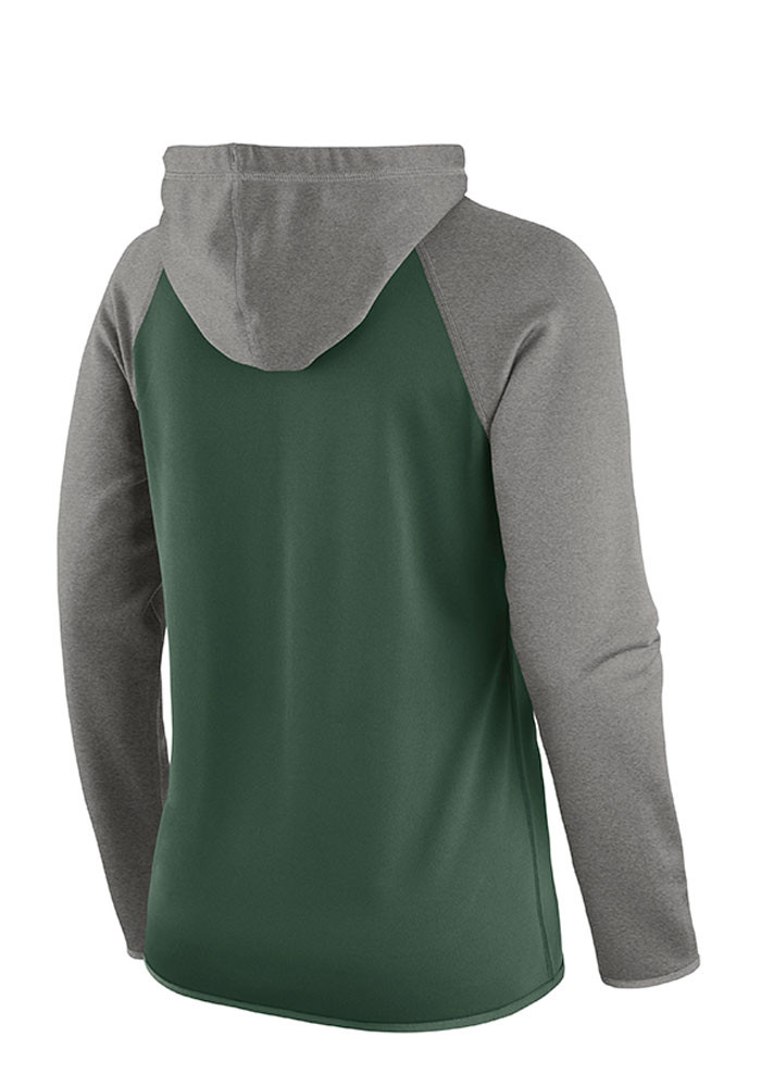 Nike Baylor Bears Womens Green Tailgate All Time Hooded Sweatshirt - Image 2