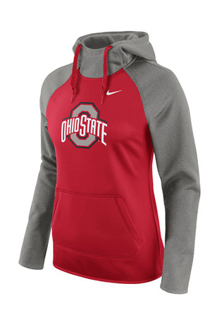Nike Ohio State Buckeyes Womens Red Tailgate All Time Hoodie