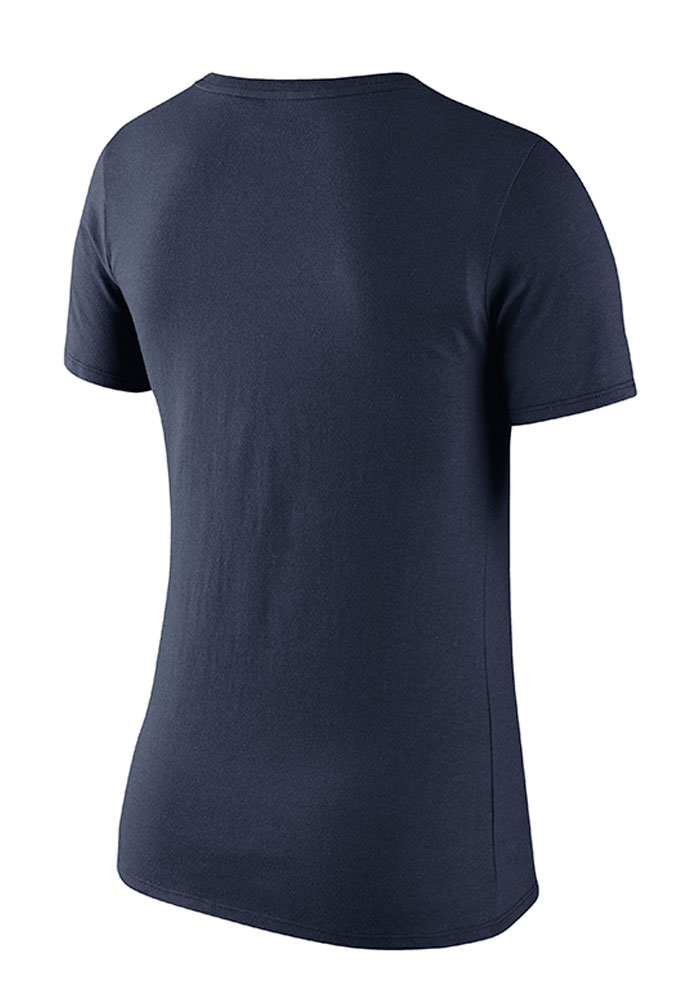 Nike Michigan Wolverines Womens Navy Blue Washed Campus Short Sleeve Crew T-Shirt - Image 2